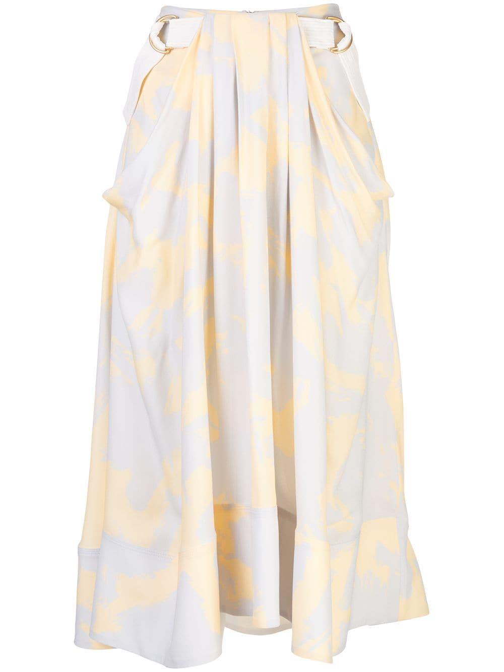 Proenza Schouler юбка миди с принтом и поясом