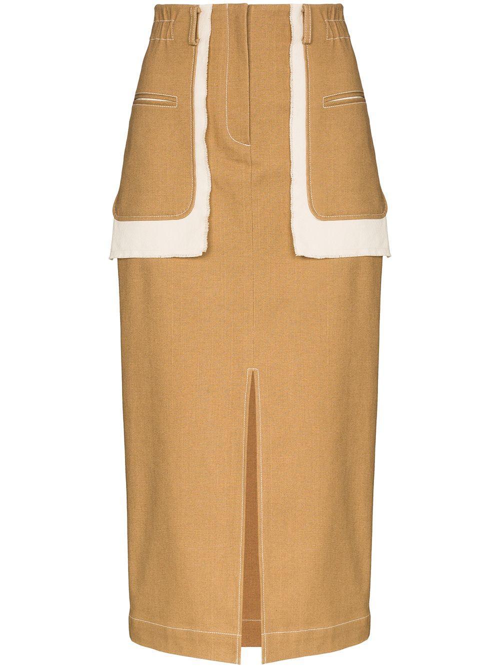 Rejina Pyo Ellie contrast pocket pencil skirt