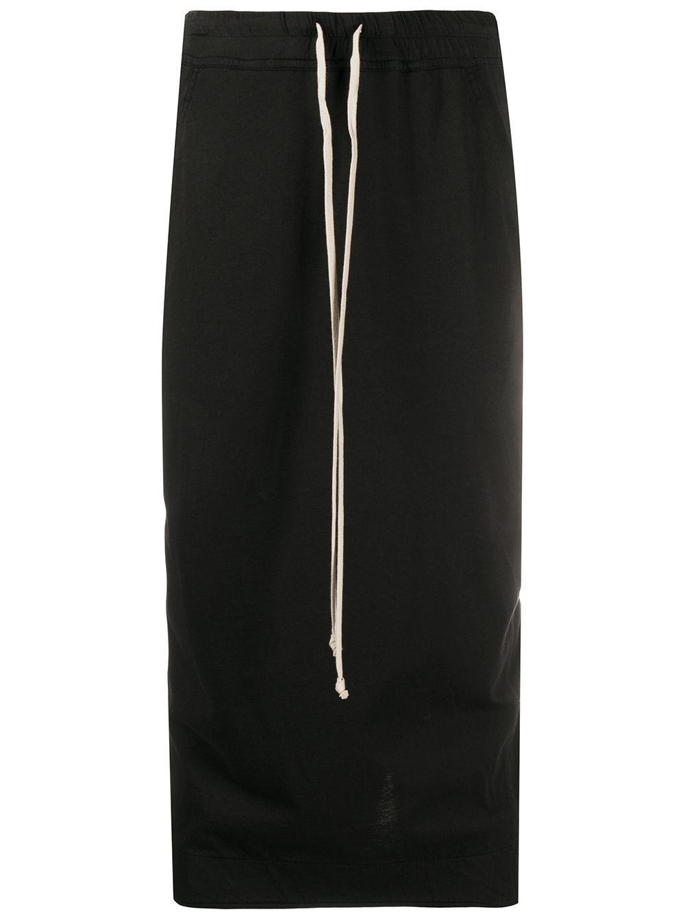 Rick Owens DRKSHDW drawstring-waist midi skirt