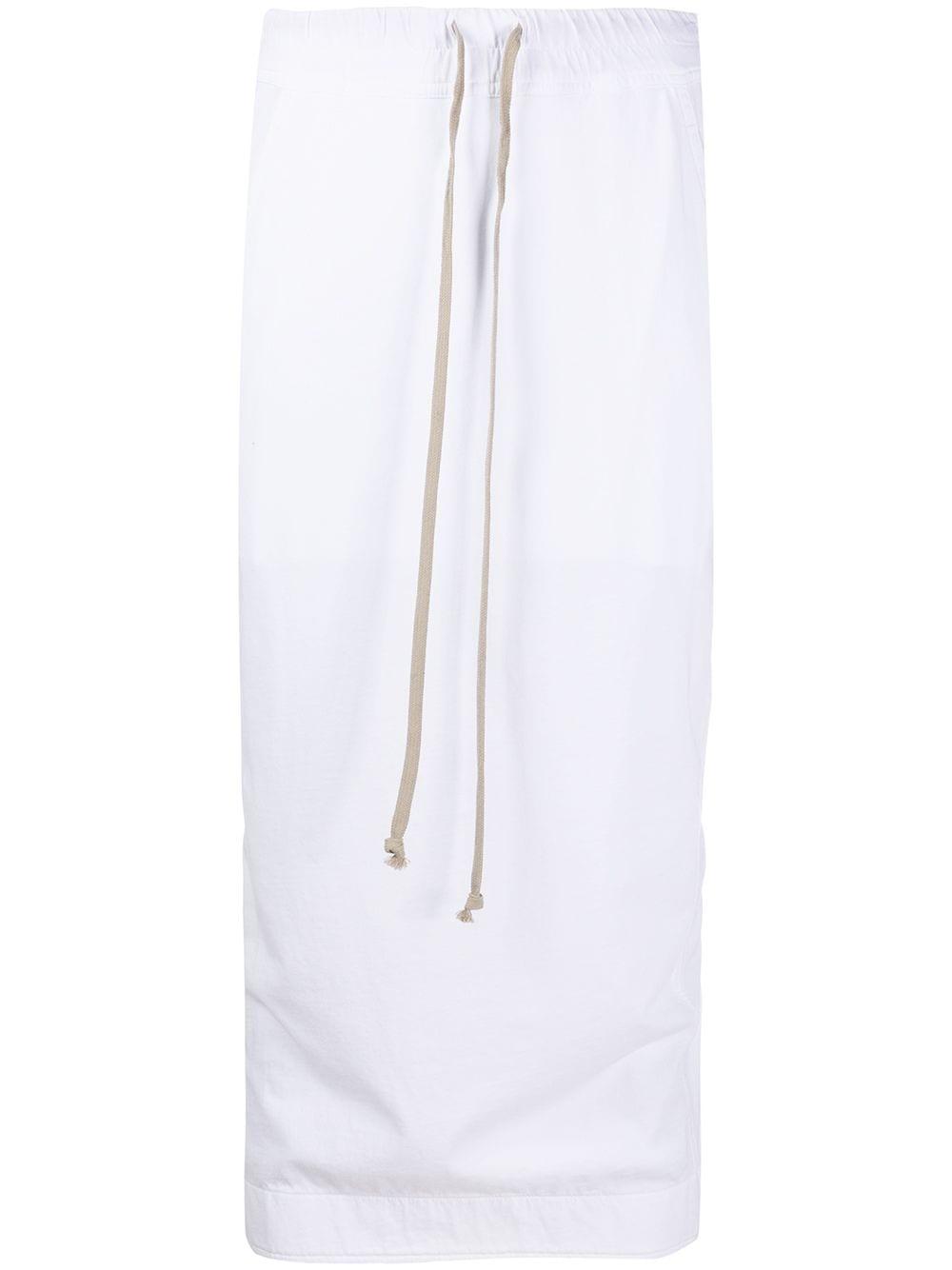 Rick Owens DRKSHDW юбка миди с кулиской