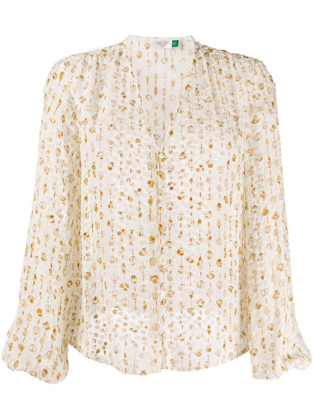 Rixo блузка с узором