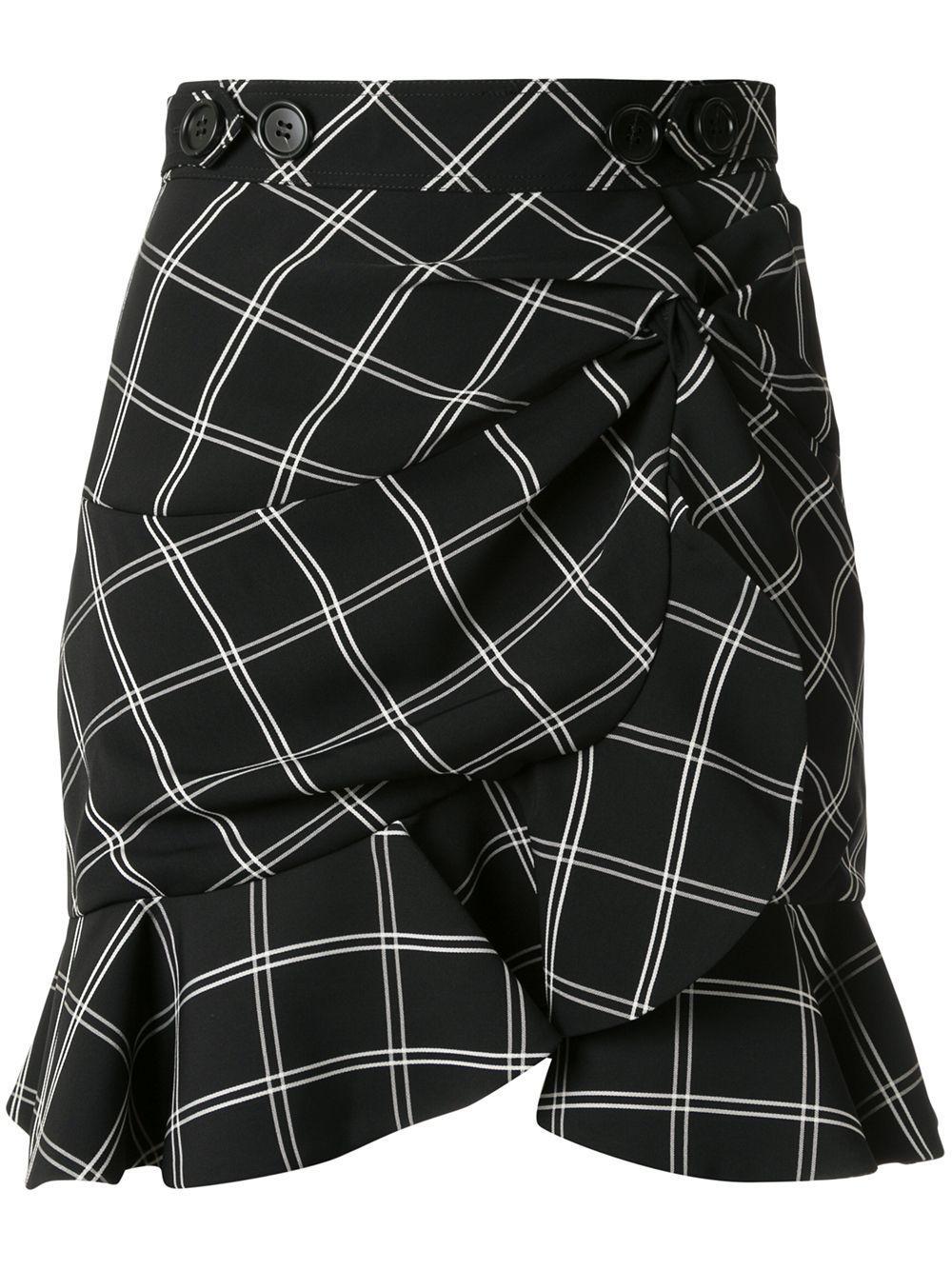 Self-Portrait asymmetric gathered skirt