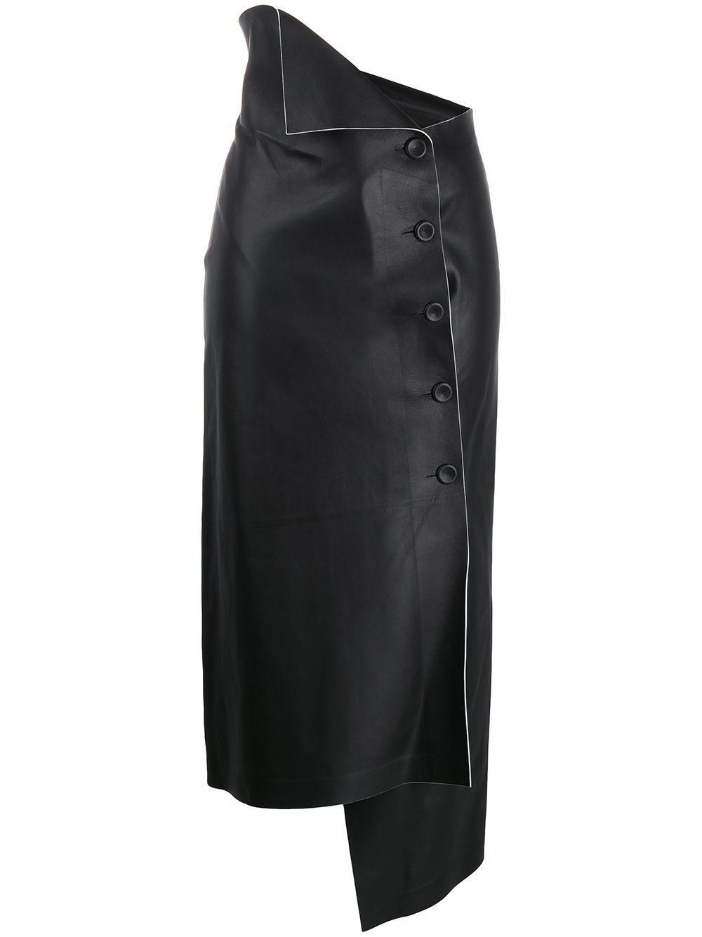 The Row юбка Verna асимметричного кроя с запахом