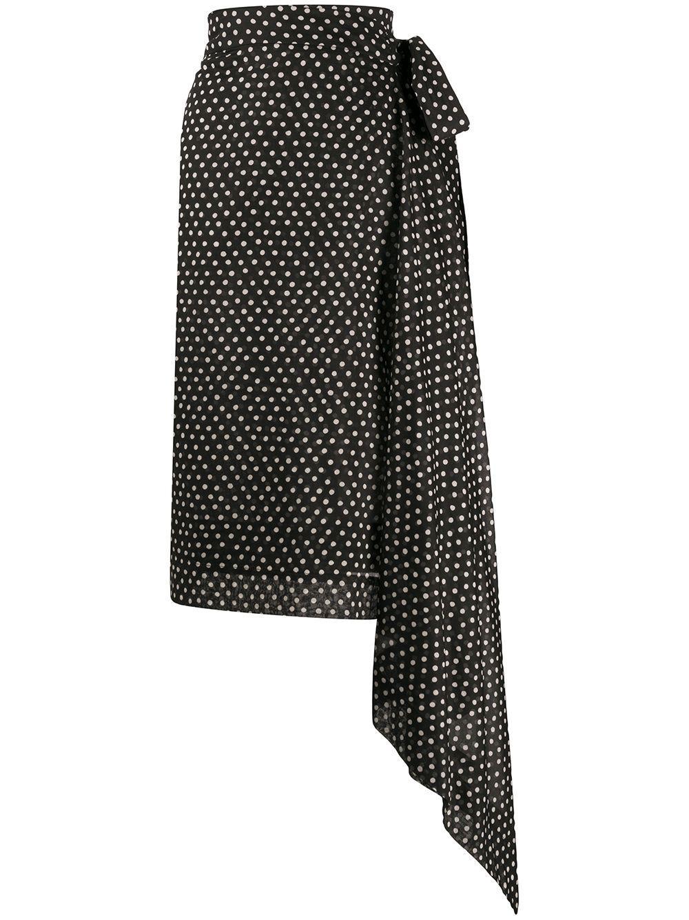 Vivienne Westwood Anglomania  юбка с запахом в горох