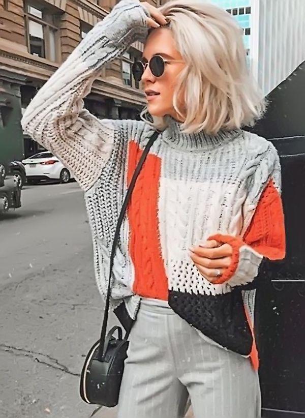 Вязаный свитер осень/зима 2019-2020 1265519