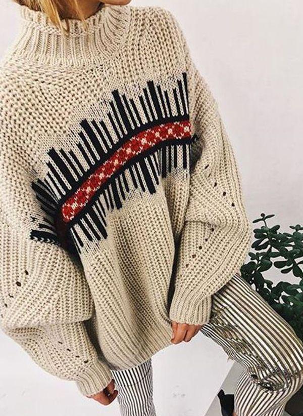 Вязаный свитер осень/зима 2019-2020 1444996