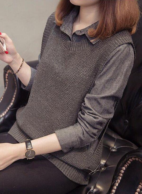 Вязаный свитер осень/зима 2019-2020 1466123