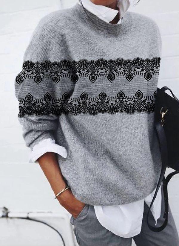 Вязаный свитер осень/зима 2019-2020 1478662