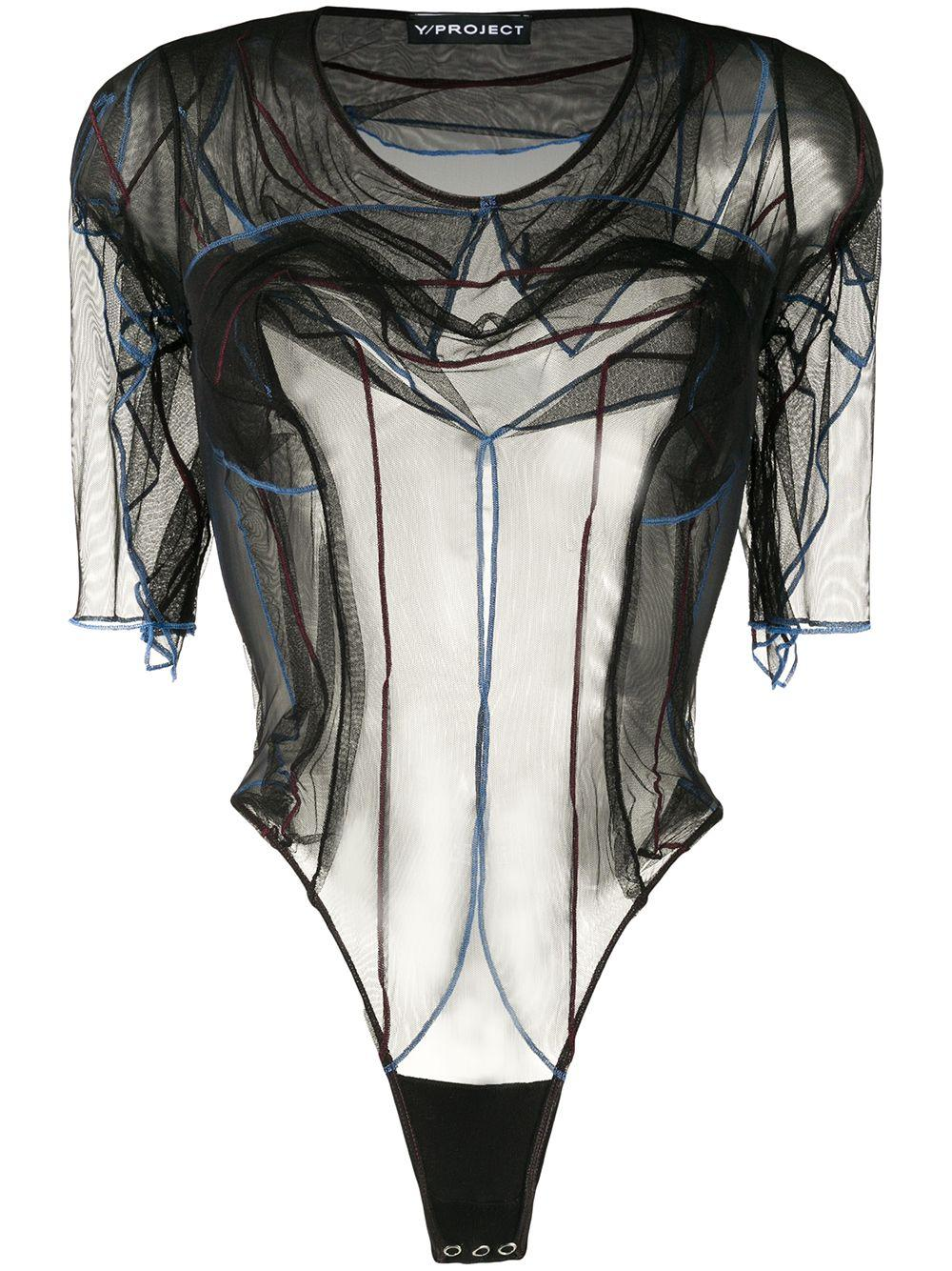 Y/Project sheer short-sleeved bodysuit