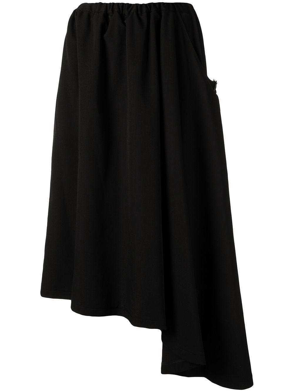 Y's трикотажная юбка миди асимметричного кроя